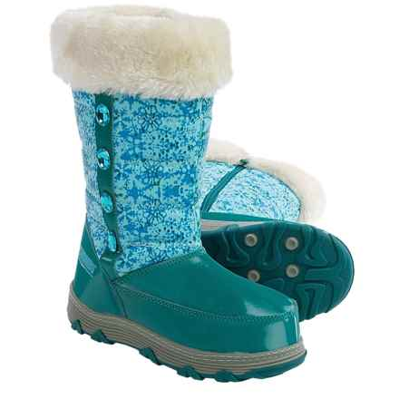 Khombu Saturn Pac Boots - Waterproof (For Little and Big Girls) in Teal - Closeouts
