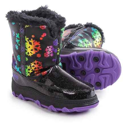 Khombu Shine Snowflake Snow Boots (For Toddlers) in Black/Multi - Closeouts