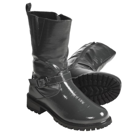Khombu Snake Boots - Fleece-Lined (For Women) in Pewter