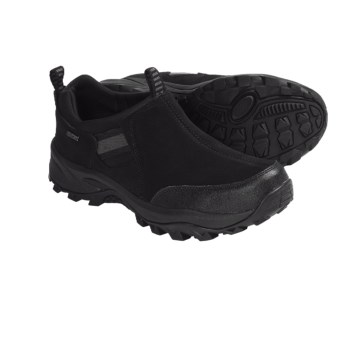 Khombu Snow Runner Winter Shoes - Slip-Ons (For Men) in Black