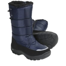 Khombu Snow Walker Winter Boots - Weatherproof (For Youth Boys and Girls) in Navy - Closeouts