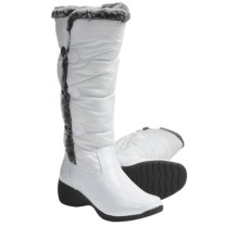 Khombu Snowpuff Button Winter Boots - Weatherproof, Insulated (For Women) in White - Closeouts