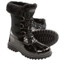 Khombu Stingray Low Snow Boots - Waterproof, Insulated (For Women) in Black - Closeouts