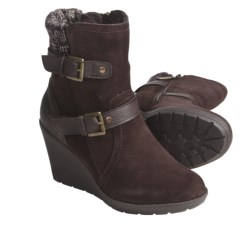 Khombu Stroll Leather Shoes - Insulated (For Women) in Dark Brown
