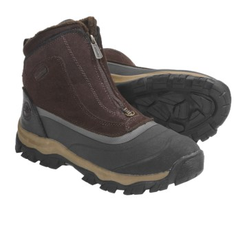 Khombu Summit Zip 3 Winter Boots - Waterproof (For Men) in Dark Brown