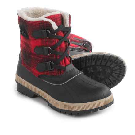 Khombu Telluride Winter Boots - Insulated, Fleece Lined (For Women) in Red Plaid - Closeouts