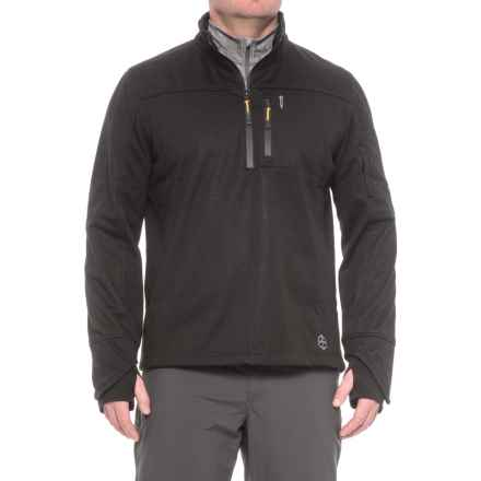 Khombu Zip Neck Fleece Jacket - Waterproof (For Men) in Black - Closeouts