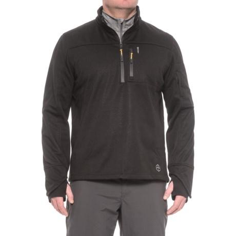 Khombu Zip Neck Fleece Jacket - Waterproof (For Men) in Black
