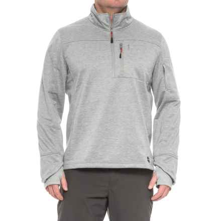 Khombu Zip Neck Fleece Jacket - Waterproof (For Men) in Charcoal - Closeouts