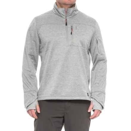 Khombu Zip Neck Fleece Jacket - Waterproof (For Men) in Charcoal - Closeouts