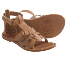 Kickers Djack V2 Leather Sandals (For Girls) in Camel - Closeouts