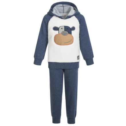 Kids Headquarters Hoodie and Jogger Set (For Infant Boys) in Blue Silly Monkey - Closeouts