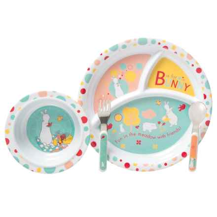 Kids Preferred Pat the Bunny Melamine Dinnerware - 4-Piece Set (For Kids) in Bunny - Closeouts