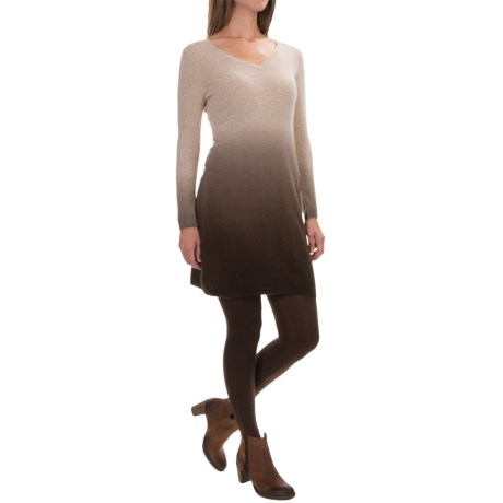 Kier & J Dip-Dye Cashmere Knit Dress - Long Sleeve (For Women)