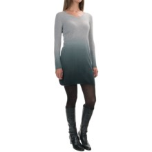 Kier & J Dip-Dye Cashmere Knit Dress - Long Sleeve (For Women) in Inox Ombre - Overstock