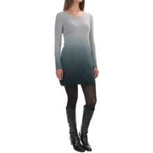 Kier & J Dip-Dye Cashmere Knit Dress - Long Sleeve (For Women) in Inox Ombre - Overstock