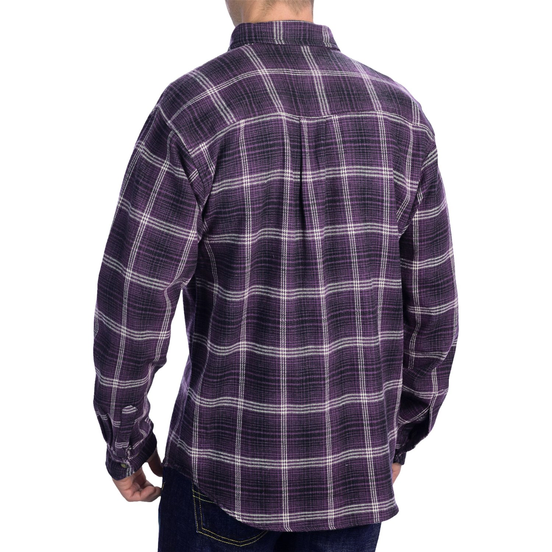 Kilimanjaro brawney tartan plaid flannel shirt for men for Long plaid flannel shirt