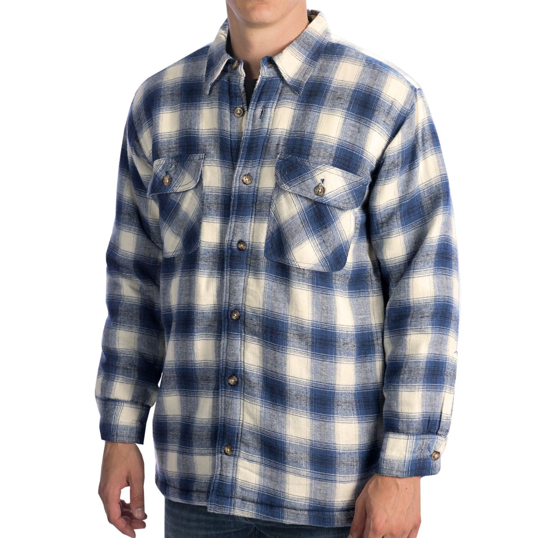 Kilimanjaro Flannel Shirt Jacket Sherpa Lined For Men