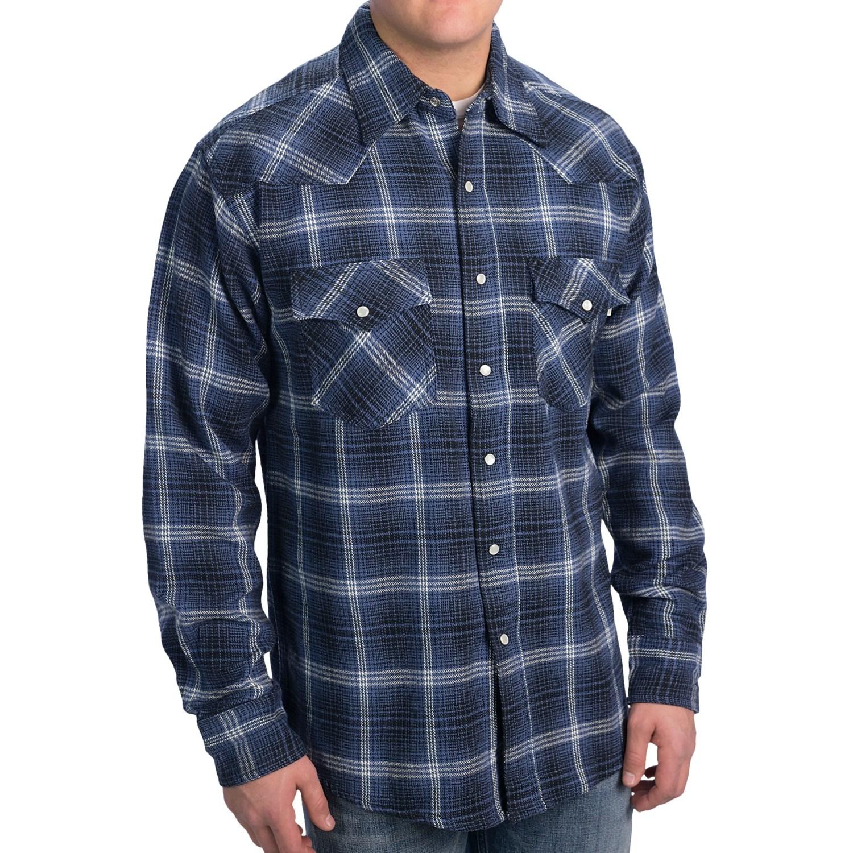 Kilimanjaro Western Flannel Shirt Long Sleeve For Tall