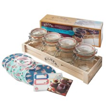 Kilner Clip-Top Jar Set with Wooden Crate - 12 oz., 31-Piece in Clear - Overstock