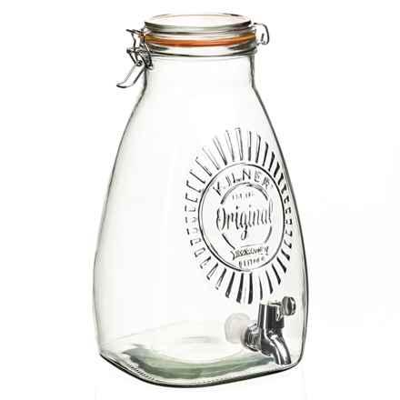 Kilner Square Drink Dispenser - 8.5 qt., Glass in Clear - Closeouts
