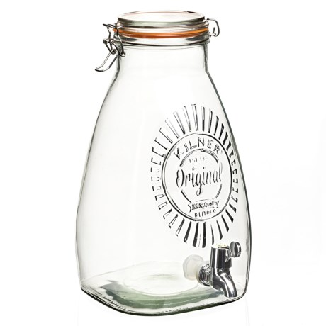 Kilner Square Drink Dispenser - 8.5 qt., Glass