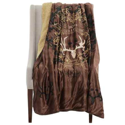 "Kimlor Bone Collector Minky Fleece Throw Blanket - 50x60"" in Brown - Closeouts"
