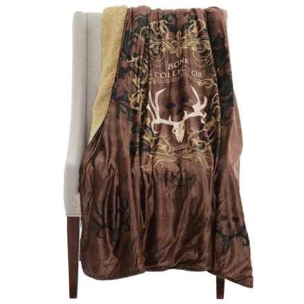 "Kimlor Bone Collector Minky Fleece Throw Blanket - 50x60"" in Brown - Closeouts"