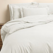 Kimlor Flannel Duvet Cover Set - Full-Queen, 6 oz. Cotton in Natural - Closeouts