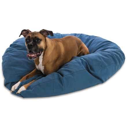 "Kimlor Jumbo Round Dog Bed - 50"" in Blue - Overstock"