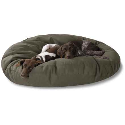 "Kimlor Jumbo Round Dog Bed - 50"" in Olive - Closeouts"