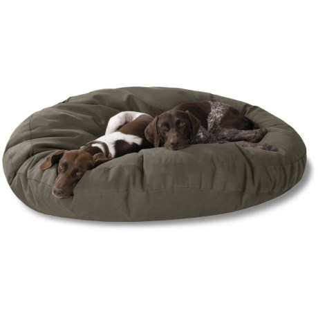 "Kimlor Jumbo Round Dog Bed - 50"" in Olive"