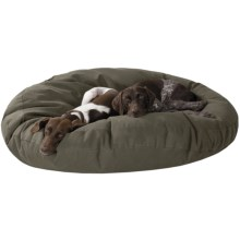 "Kimlor Jumbo Round Dog Bed - 50"" in Olive - Overstock"