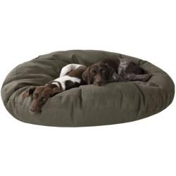 "Kimlor Jumbo Round Dog Bed - 50"" in Olive"