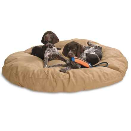 "Kimlor Jumbo Round Dog Bed - 50"" in Tan - Closeouts"