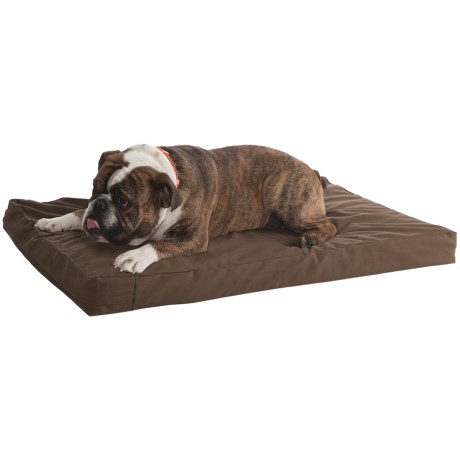 "Kimlor Memory-Foam Dog Bed - 24x36"" in Brown"
