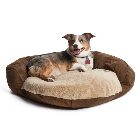 "Kimlor Microsuede Bolster Dog Bed - 30"" Round"