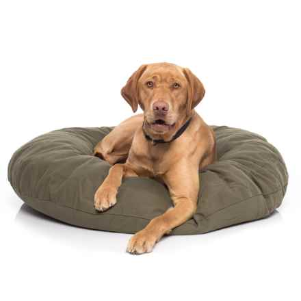 kimlor premium quality dog bed 40u201d round in olive overstock