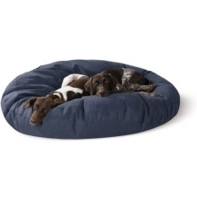 "Kimlor Round Dog Bed - 50"" Jumbo in Navy - Overstock"