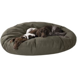 "Kimlor Round Jumo Dog Bed - 50"" in Olive"
