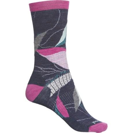 Kimono Leaf Socks - Merino Wool, Crew (For Women) - DEEP NAVY (M ) -  SmartWool