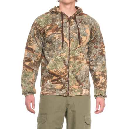 Kings Camo Classic Thermal Zip Hoodie - Cotton Blend (For Men) in Desert Shadow - Closeouts