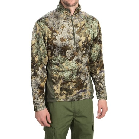 Kings Camo KC1 Fleece Shirt Zip Neck, Long Sleeve (For Men)