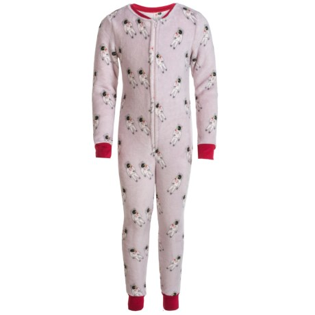 Kings n Queens Kings N Queens Plush One-Piece Pajamas - Long Sleeve (For Little and Big Boys) in Gray Multi Spaceman