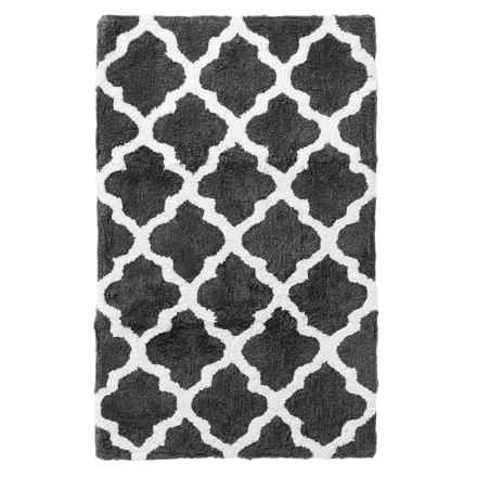 "Kingsley Jacquard Trellis Bath Mat - 21x34"" in Charcoal - Closeouts"