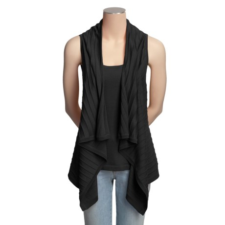 Kinross 2-in-1 Ribbed Shirt - Sleeveless, Tank (For Women) in Black