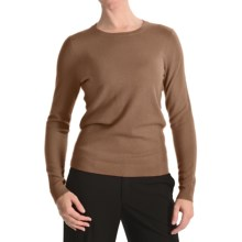 Kinross Basic Crew Sweater - Cashmere (For Women) in Camel - Closeouts