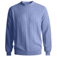 Kinross Cashmere Cable Sweater (For Men) in Horizon - Closeouts