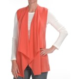 Kinross Cashmere Drape Front Vest - 2-Ply, 7-Gauge (For Women)