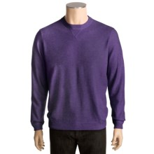 Kinross Cashmere Sweatshirt (For Men) in Regal/Charcoal - Closeouts